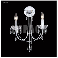 James R. Moder 40882S11 Crystal Rain Collection 2 Light Silver Chandelier Wall Sconce Wall Light