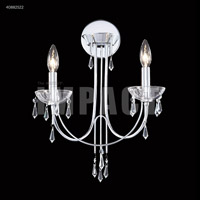 James R. Moder 40882S22 Spring Rain 2 Light Silver Wall Sconce Wall Light