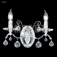 James R. Moder 40892S11 Regalia 2 Light Silver Wall Sconce Wall Light