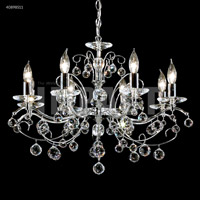 James R. Moder 40898S11 Regalia 8 Light 26 inch Silver Chandelier Ceiling Light