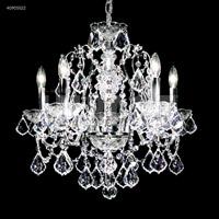 James R. Moder 40905S22 Regalia Collection 5 Light 20 inch Silver Chandelier Ceiling Light