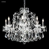 James R. Moder 40908S22 Regalia Collection 8 Light 28 inch Silver Chandelier Ceiling Light