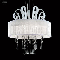 Contemporary 8 Light 26 inch Silver Chandelier Ceiling Light