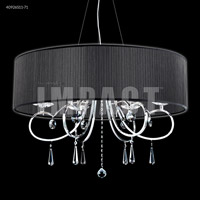James R. Moder 40926S11-71 Contemporary 6 Light 31 inch Silver Chandelier Ceiling Light