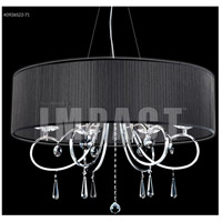 James R. Moder 40926S22-71 Contemporary 6 Light 31 inch Silver Crystal Chandelier Ceiling Light