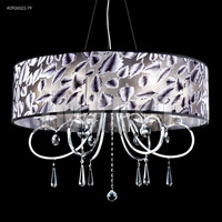 Contemporary 6 Light 31 inch Silver Chandelier Ceiling Light