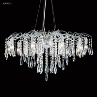 Contemporary 10 Light 31 inch Silver Chandelier Ceiling Light