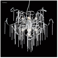 Contemporary 9 Light 30 inch Silver Chandelier Ceiling Light