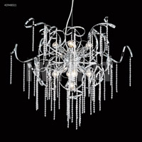 James R. Moder 40948S11 Contemporary Collection 9 Light 30 inch Silver Chandelier Ceiling Light