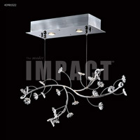 James R. Moder 40981S0X Crystal Rain Collection 2 Light 9 inch Silver Chandelier Ceiling Light