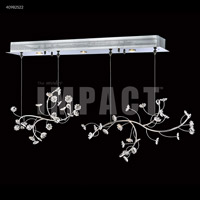 James R. Moder 40982S0X Crystal Rain Collection 3 Light 9 inch Silver Chandelier Ceiling Light