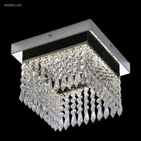 James R. Moder 41010S11LED Galaxy Collection LED 10 inch Silver Chandelier Ceiling Light