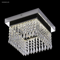 James R. Moder 41010S22LED Galaxy Collection LED 10 inch Silver Chandelier Ceiling Light