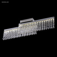James R. Moder 41015S11LED Galaxy Collection LED 4 inch Silver Chandelier Ceiling Light