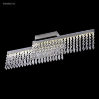 James R. Moder 41015S22LED Galaxy Collection LED 4 inch Silver Chandelier Ceiling Light