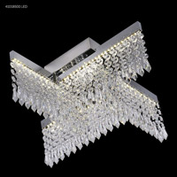 James R. Moder 41018S00LED Galaxy Collection LED 17 inch Silver Chandelier Ceiling Light