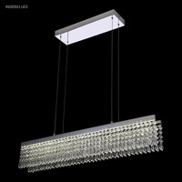 James R. Moder 41025S11LED Galaxy Collection LED 5 inch Silver Chandelier Ceiling Light