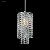 James R. Moder 41041S11 Contemporary Collection 1 Light 6 inch Silver Chandelier Ceiling Light