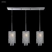 James R. Moder 41043S11 Contemporary Collection 3 Light 6 inch Silver Chandelier Ceiling Light