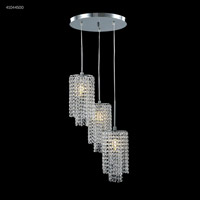 James R. Moder 41044S00 Contemporary Collection 3 Light 16 inch Silver Chandelier Ceiling Light