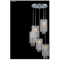 James R. Moder 41045S00 Contemporary Collection 5 Light 18 inch Silver Chandelier Ceiling Light