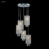 James R. Moder 41045S11 Contemporary Collection 5 Light 18 inch Silver Chandelier Ceiling Light