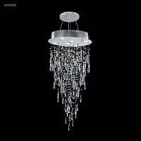 James R. Moder 41051S00 Crystal Rain Collection 6 Light 20 inch Silver Chandelier Ceiling Light