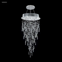 James R. Moder 41051S11 Crystal Rain Collection 6 Light 20 inch Silver Chandelier Ceiling Light
