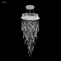 James R. Moder Silver Crystal Chandeliers
