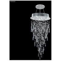 James R. Moder 41051S22 Crystal Rain Collection 6 Light 20 inch Silver Chandelier Ceiling Light