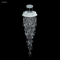 James R. Moder 41054S22 Crystal Rain Collection 8 Light 24 inch Silver Chandelier Ceiling Light