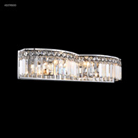 James R. Moder 41074S00 Vanity Light Collection 4 Light 22 inch Silver Vanity Light Wall Light