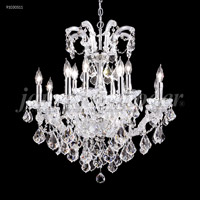 James R. Moder 91030S11 Maria Theresa 12 Light 26 inch Silver Chandelier Ceiling Light Grand