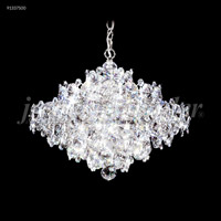 James R. Moder 91337S00 Continental Fashion 13 Light 21 inch Silver Crystal Chandelier Ceiling Light