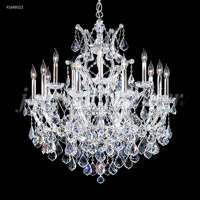 James R. Moder 91688S0TX Maria Theresa Grand Collection 16 Light 31 inch Silver Chandelier Ceiling Light Grand