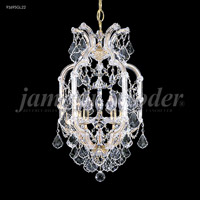 James R. Moder 91695S22 Maria Theresa 5 Light 14 inch Silver Pendant Ceiling Light, Grand