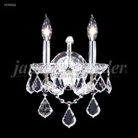 James R. Moder 91702S22 Maria Theresa 2 Light Silver Wall Sconce Wall Light, Grand