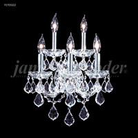 James R. Moder 91705S22 Maria Theresa Grand 5 Light 13 inch Silver Wall Sconce Wall Light Grand