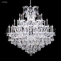 James R. Moder 91770S00 Maria Theresa Grand 37 Light 54 inch Silver Crystal Chandelier Ceiling Light Grand