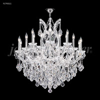 James R. Moder 91790S11 Maria Theresa 19 Light 37 inch Silver Chandelier Ceiling Light Grand