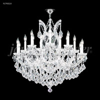 James R. Moder 91790S1X Maria Theresa 19 Light 37 inch Silver Chandelier Ceiling Light Grand
