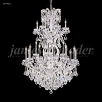 James R. Moder 91795S11 Maria Theresa 25 Light 37 inch Silver Chandelier Ceiling Light Grand