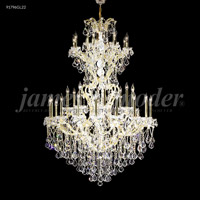 James R. Moder 91796GL2X Maria Theresa 37 Light 46 inch Gold Lustre Chandelier Ceiling Light Grand