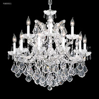 James R. Moder 91800S11 Maria Theresa Grand 16 Light 29 inch Silver Crystal Chandelier Ceiling Light Grand