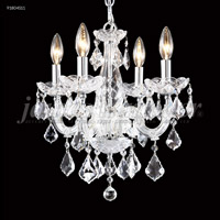 James R. Moder 91804S11 Maria Theresa 4 Light 15 inch Silver Mini Chandelier Ceiling Light Grand