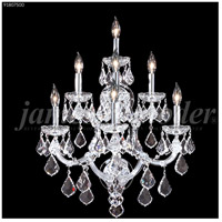 James R. Moder 91807S00 Maria Theresa Grand 7 Light 19 inch Silver Wall Sconce Wall Light, Grand