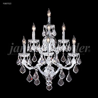 James R. Moder 91807S0X Maria Theresa Grand Collection 7 Light Silver Wall Sconce Wall Light Grand
