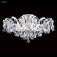 Maria Theresa 8 Light 32 inch Silver Flush Mount Ceiling Light, Grand