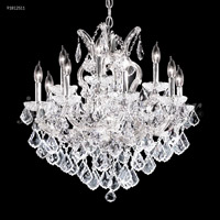 James R. Moder 91812S11 Maria Theresa Grand Collection 13 Light 26 inch Silver Chandelier Ceiling Light Grand
