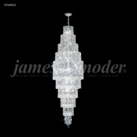 James R. Moder 92168S22 Prestige 28 Light 20 inch Silver Entry Chandelier Ceiling Light Large